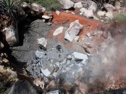 Volcanic hot spots - sulphur, magnesium, calcium & iron