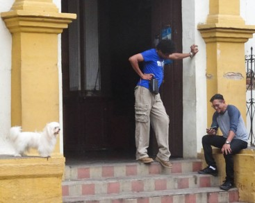 Hanging about the Church door