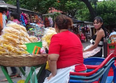 Vendors in the city square