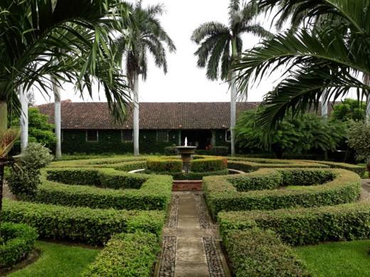 The formal garden at El Convento