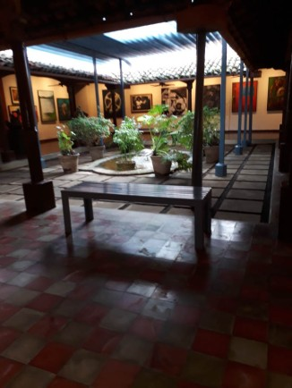 one of the courtyards in theOrtiz Guardian museum