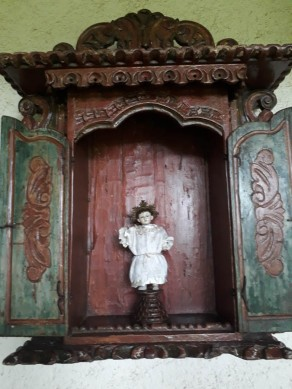 A religious statue from the old convent