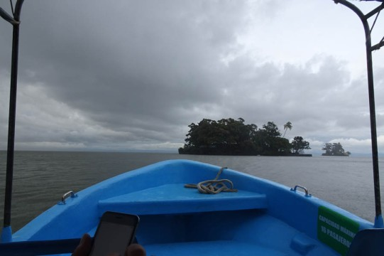 murky weather for a boat ride