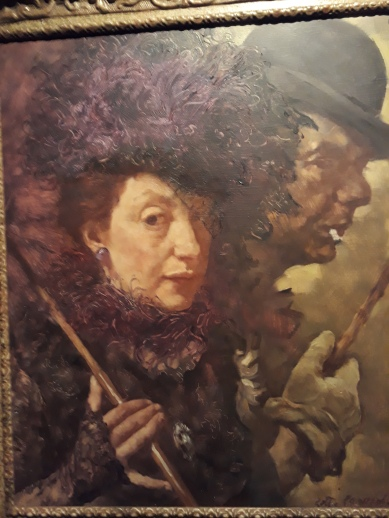 Lotte dressed as Polly Peacham with Mack the Knife in Brecht's Threepenny Opera
