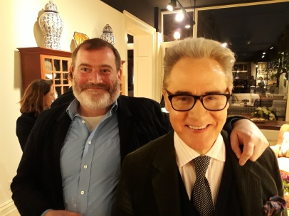 Fred Mann with THAT Peter Wallis, the Sloane ranger.