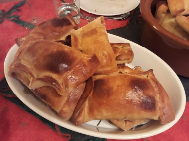The empanadas - a bit like Cornish pasties