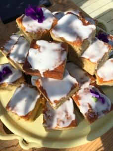 Lavender drizzle cake