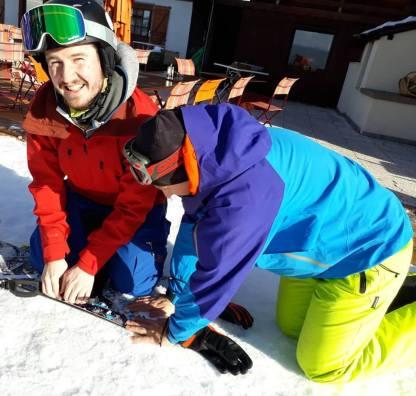 Snowboard repairs, thanks James!