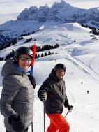 a rare sighting of Diego & Christine on the slopes together...