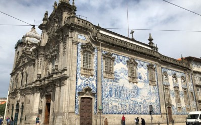 The cathedral, more blue tiles