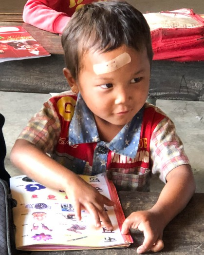 Learning his numbers, Lebrang