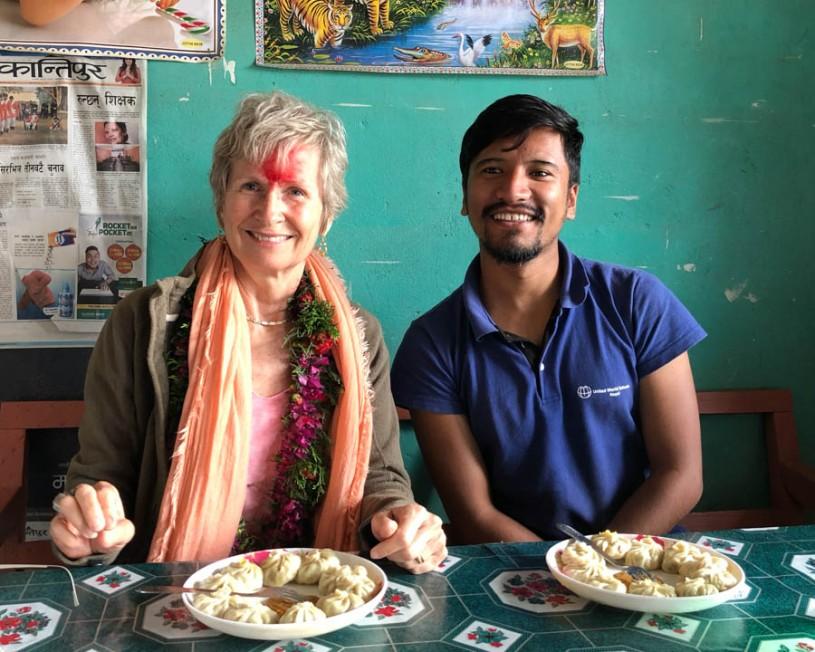 Momos for lunch - a Tibetan dumpling
