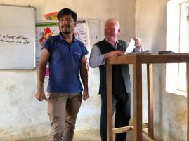 Surya with the Principal at Wana