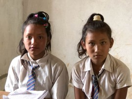 Serious girls contemplating their futures, Wana