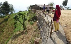 The new wall at Nagi Dada, built for safety