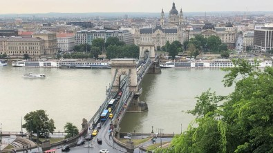 The chain bridge from the castle