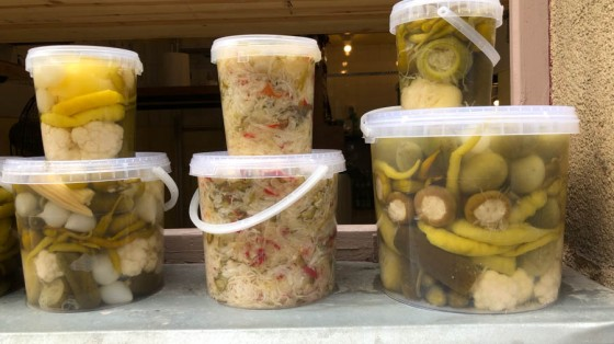 Typical Jewish pickles for sale