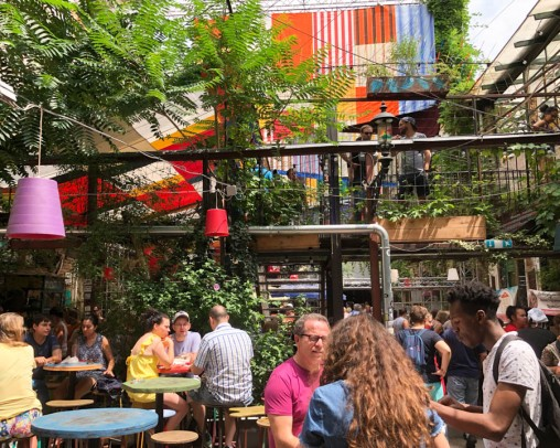 Inside the Szimpla Kert ruin bar