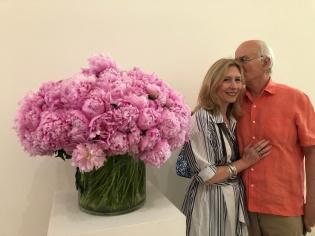 With husband John at the Beyeler