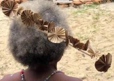 Elegant coconut head-dress
