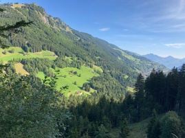 Looking over Champery to Rhone Valley