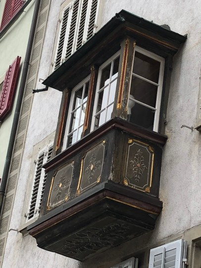 These decorated balcony windows are everywhere