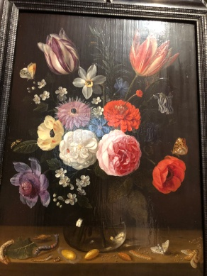 Flowers and the metamorphosis of the silkworm by Jan van Kessel 1626-1679