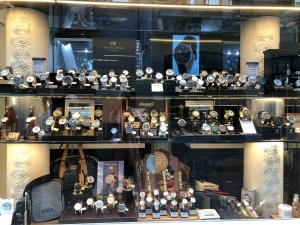 An old-world watch shop full of priceless antiques
