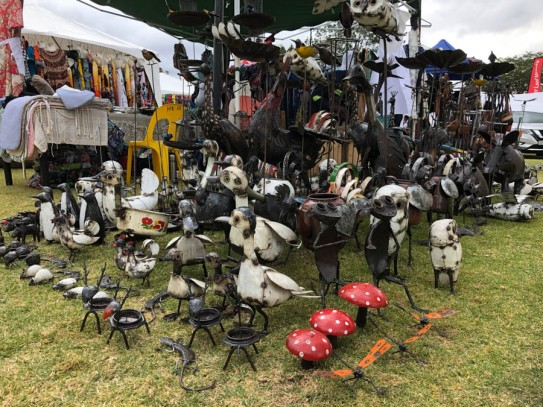 All manner of wildlife made from oil drums