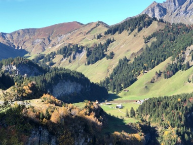 Classic high alp pasture, the Cantine de Barmaz nestled in the middle
