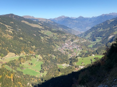 Champery from the path up