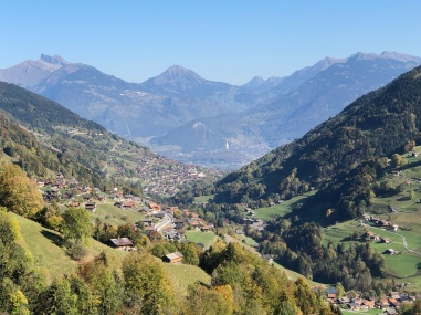 Looking towards Val d'Illiez and Leysin
