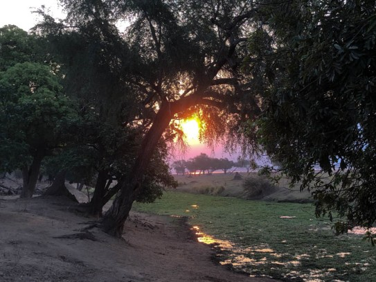 Long Pool sunset