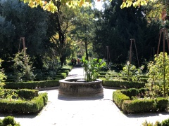 These gardens are very old and laid out geometrically