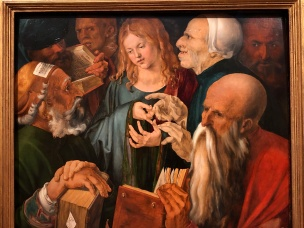 A famous Durer, Jesus among the doctors