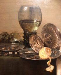 Love the light on this early Dutch (1634) still life
