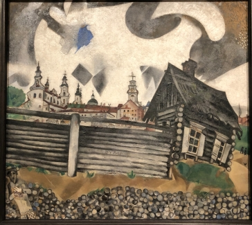Chagall - the grey house, so reminded me of the Russian paintings in Basel