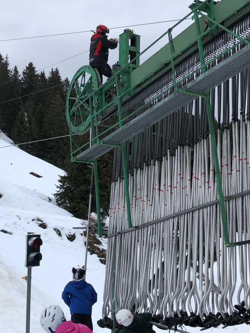 And of course the drag lift breaks down on day one of the season!