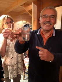 The birthday boy can only manage alkaseltzer