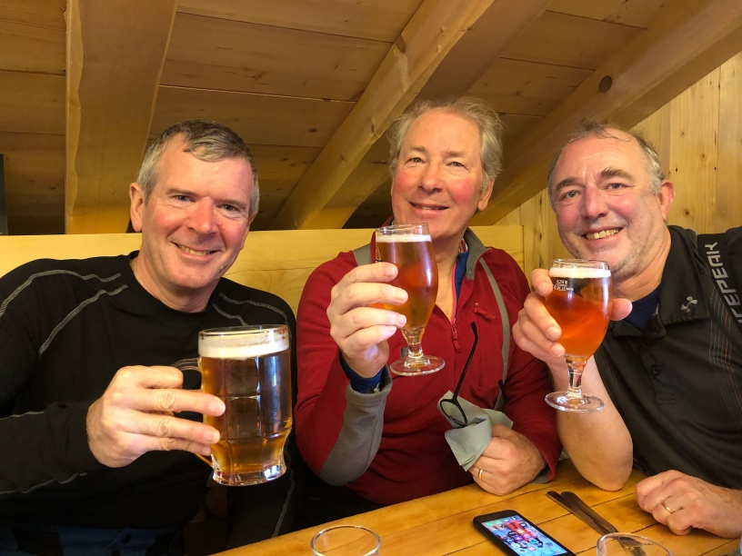 Another day another beer...Ross, Robin and Batch