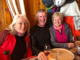 Lunch at Marmottes; Hilary a ski original