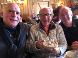 Lots of genepi on this trip! John, Robin and Batch - all Queensmen