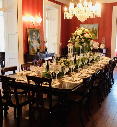 The grand main dining room