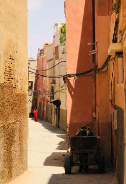 Typical Marrakech street scene (no traffic!)