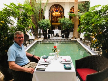 Dinner at the Riad Mansour
