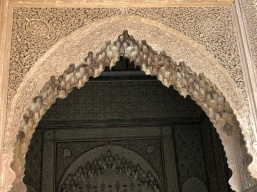 Intricately carved stucco