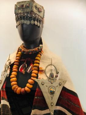 Traditional Berber jewellery in the Dar si Said carpet museum