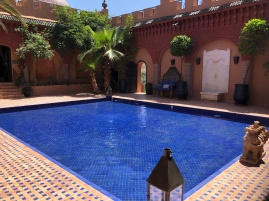 decorative pool, like a Riad
