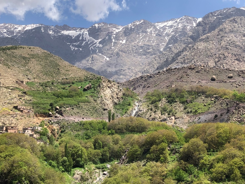 some Berber villages dotted round the hillside