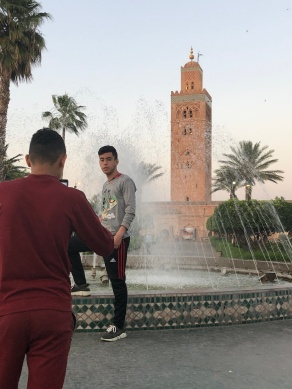 The Koutoubia, boys are posers aren't they?